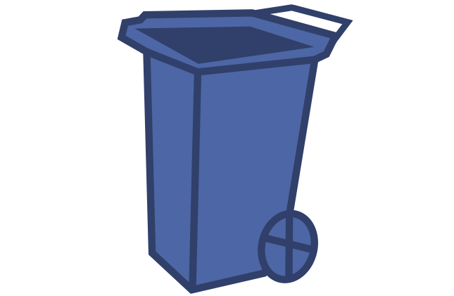 small wheelie bin blue icon