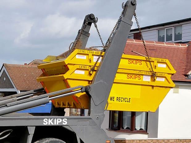 yellow skip stack
