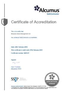 Safe Contractors Certificate